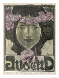 Woman with a Circlet of Roses Round Her Head Giclee Print by  Erler