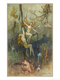 Sea Nymphs Giclee Print by Warwick Goble