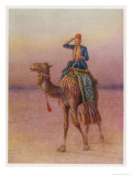 General Charles Gordon's Single-Handed Expedition to Dava on a Camel Giclee Print by Howard Davie