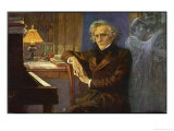 Hector Berlioz, Composing Les Troyens Giclee Print by L. Balestrieri