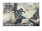 Battle of Lake Erie Giclee Print by W.j. Aylward