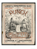 Classic Punch Cover with Mr. Punch and His Dog Toby Giclee Print by Richard Doyle