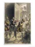 Guy Fawkes is Caught Red- Handed in the Cellars of the Houses of Parliament Giclee Print by Theophile Fragonard