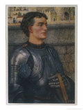 Sir Lancelot Goes to Guinevere as Ambassador Giclee Print by Eleanor Fortescue Brickdale