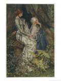 Merlin is Spellbound by His Lover Nimue Giclee Print by Eleanor Fortescue Brickdale