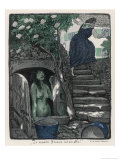 Nixie in the Well Frightens an Old Woman Who Came Thereto Fetch Water Giclee Print by R.m. Euchler