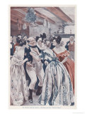 Mr. Pickwick Under the Mistletoe with a Number of Ladies, Giclee Print