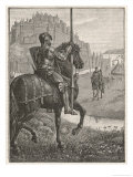 Sir Gareth and the Knight of the Red Lawns Giclee Print by H.f. Davey