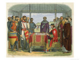 King John Pressured by the Barons and Threatened with Insurrection Premium Giclee Print by James Doyle