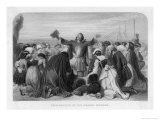 "The ""Pilgrims"" Pray Before Embarking on the Voyage from Plymouth to America Giclee Print by E. Corbould"