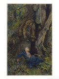 Merlin Reveals the Secrets of His Magic to Vivien Who Promptly Deserts Him Giclee Print by Eleanor Fortescue Brickdale