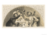 Group of Drinkers Raise Their Glasses in a Toast Giclee Print by Birket Foster