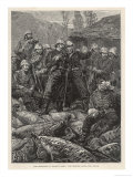 Rorkes Drift Chard and Bromhead with Their Men the Morning after the Zulu Attack Giclee Print by J. Bell