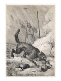 St. Bernard Rescuing Giclee Print by Victor Jean Adam