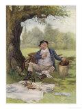 Mr. Pickwick Picnics Giclee Print by Frederick Barnard