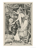 The Princess Who Has Lost Her Way in the Forest Meets the Prince Who is Under a Spell Giclee Print by Henry Justice Ford