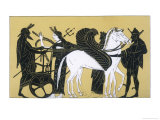 Neptune with His Chariot and Winged Horses Giclee Print by  Decharme