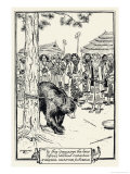 The Aino People of Japan Send a Bear as Messenger to Their Gods Gicleetryck av H.m. Brock