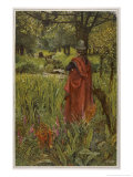 "Lancelot Mourns for Elaine the ""Lily-Maid of Astolat"" Otherwise Known as the Lady of Shalott Giclee Print by Eleanor Fortescue Brickdale"