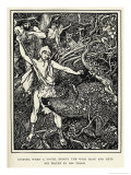 Young Odysseus Fights a Wild Boar and Gets the Wound in His Thigh Giclee Print by Henry Justice Ford
