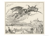 The Dragon Carries off the Three Soldiers Giclee Print by Henry Justice Ford