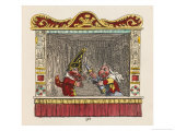 Punch Judy and the Baby Giclee Print by George Cruikshank