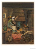 The Old Cottage Woman with Her Distaff and Her Animal Companions Giclee Print by Eleanor Vere Boyle