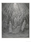 Huge Host of Angels Descend Through the Clouds in Paradise Premium Giclee Print by Gustave Doré