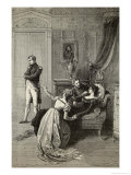 Napoleon Tells Josephine He is Going to Divorce Her for Dynastic Reasons Giclee Print by Emile Bayard