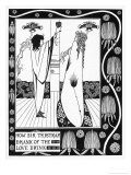 Tristram Drinks the Love Potion Giclee Print by Aubrey Beardsley