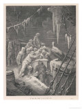 The Frozen Crew are Joined by an Albatross Which Sits on the Ship Giclee Print by Gustave Doré