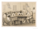 British Judge Hearing a Case Giclee Print by Captain G.f. Atkinson