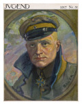 Manfred Von Richthofen German Aviator Giclee Print by Karl Bauer