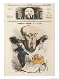 Ernest Feydeau French Novelist Father of G L J M Feydeau the Playwright Giclee Print by André Gill