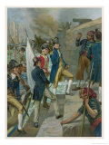 Battle of Copenhagen Nelson Giclee Print by Thomas Davidson