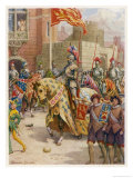 Sir Philip Sidney Jousts at Whitehall Giclee Print by Howard Davie