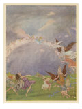 Fairies in Flight Giclee Print by Florence Anderson