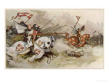 First Crusade a Cavalry Charge by the Knights of Saint John Against the Saracens Giclee Print by Adolf Closs