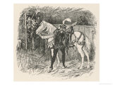 Prince Saphir Steals the Horse and Harness Giclee Print by Henry Justice Ford