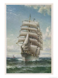 With All Sails Set Giclee Print by W.a. Coulter