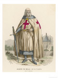 Jacques De Molay Grand Maitre Des Templiers Arrested and Burned by Philippe Iv Giclee Print by  Chevauchet