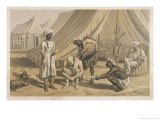 British Soldier Bathing in a Camp Giclee Print by Captain G.f. Atkinson