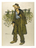 The Mistletoe Seller Giclee Print by Barrere