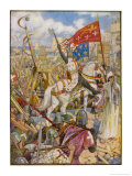 Third Crusade Richard I after Taking Cyprus En Route Lands at Acre After Giclee Print by Henry Justice Ford