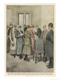 British Women Vote for the First Time Giclee Print by Achille Beltrame