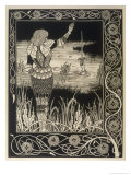 Sir Bedivere Returns Excalibur to the Lake Giclee Print by Aubrey Beardsley