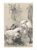 Cleopatra VII She Dies with the Help of an Asp Giclee Print by Victor Jean Adam