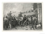 The Death of Admiral Magon at the Battle of Trafalgar Giclee Print by Paul Girardet