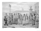 Prisoners Outside the Government Jail in Sydney Giclee Print by A. Earle