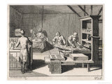 Scene in a Printing Office Giclee Print by Daniel Chodowiecki